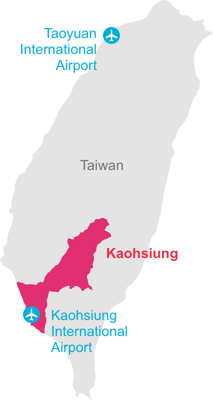 Location of Kaohsung